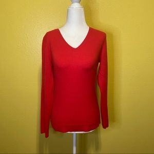 Ann Taylor 100% Cashmere Vneck Sweater size Small